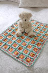 Mönster mormorsrutor babypläd - Summer Cotton