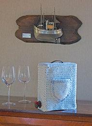 Mönster virkad vinbox - Recycled cotton från Svarta Fåret