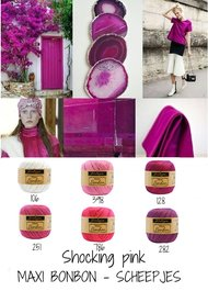 Shock Pink paket  Maxi BonBon Sheepjes -  12 pack