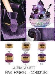 Ultra violettpaket Maxi BonBon Scheepjes - 12 pack