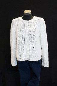Mönster Stickad tröja Summer Cotton Svarta Fåret