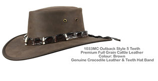 OUTBACK CROCODILE - 5 Teeth band - Brown