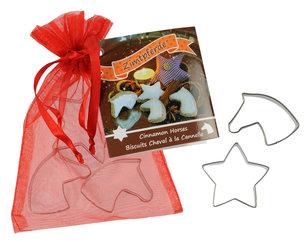 Pepparkaks-Kakformar med hästmotiv och stjärna