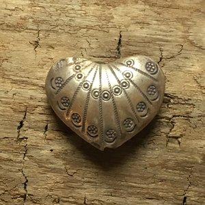 Hjärta i finsilver, 27x21mm