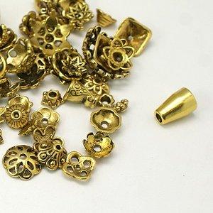 Metallmix pärlhattar, antikguld