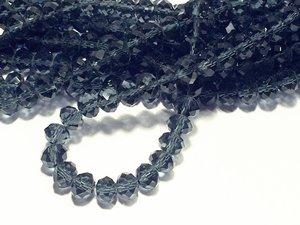 Glaskristall, Mörkt Blå, 8x6mm