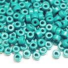 Keramikpärlor 6x4mm - Grönturkos