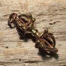 Dorje amulett mässing, 36mm