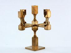 """Gusum, Sweden """" Heavy candelabrum in solid brass"""""""