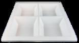 Fyrkantig - Tallrik 4-delad - Större