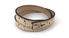 Wrist ruler - Måttarmband i naturskinn 40,6 cm / 16 inches