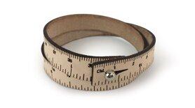 Wrist ruler - Måttarmband i naturskinn 38,1 cm / 15 inches