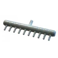 Förgreningsrör i plast för syreslang 10 utgångar