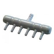 Förgreningsrör i plast för syreslang 6 utgångar