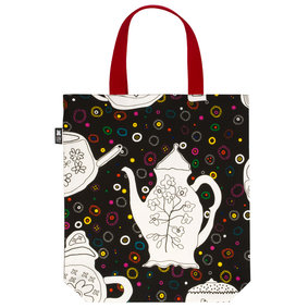Textile Bag We drink tea and learn the letter e