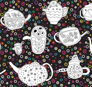 Fabric We drink tea and learn the letter e