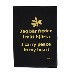 Handtryckta Handdukar Peace begins with you and me