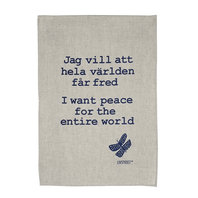 Handprinted Towels Peace begins with you and me