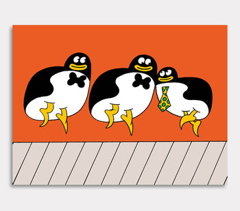 3 – three. Singing penguins.