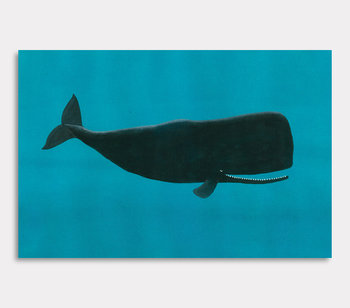 Canvas painting, Valdemar the whale – In the world of the ocean
