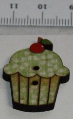 Träknapp Cupcake Pistage