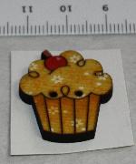 Träknapp Cupcake Apelsin