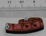 Träknapp Måttband Rosa