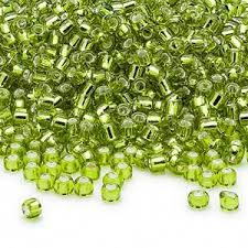 6/0 Seed Beads, 3-4mm, LightGreen S/L
