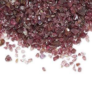 Granat- Chips, 2-6mm utan hål