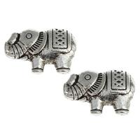 Metallpärlor elefant, ca13x9mm