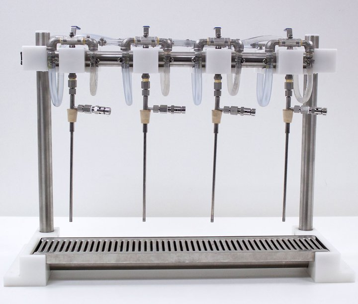 4 Head Counter Pressure Bottle Filler