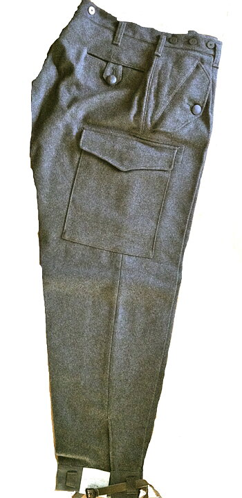 Swedish Army Wool Pants Trousers M 58 Beredskapsboden