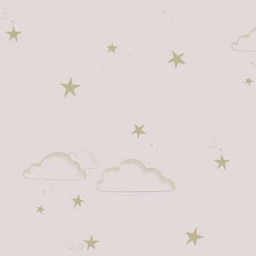 Hibou Home Wallpaper Starry Sky Silver White Or Pale Pink Gold