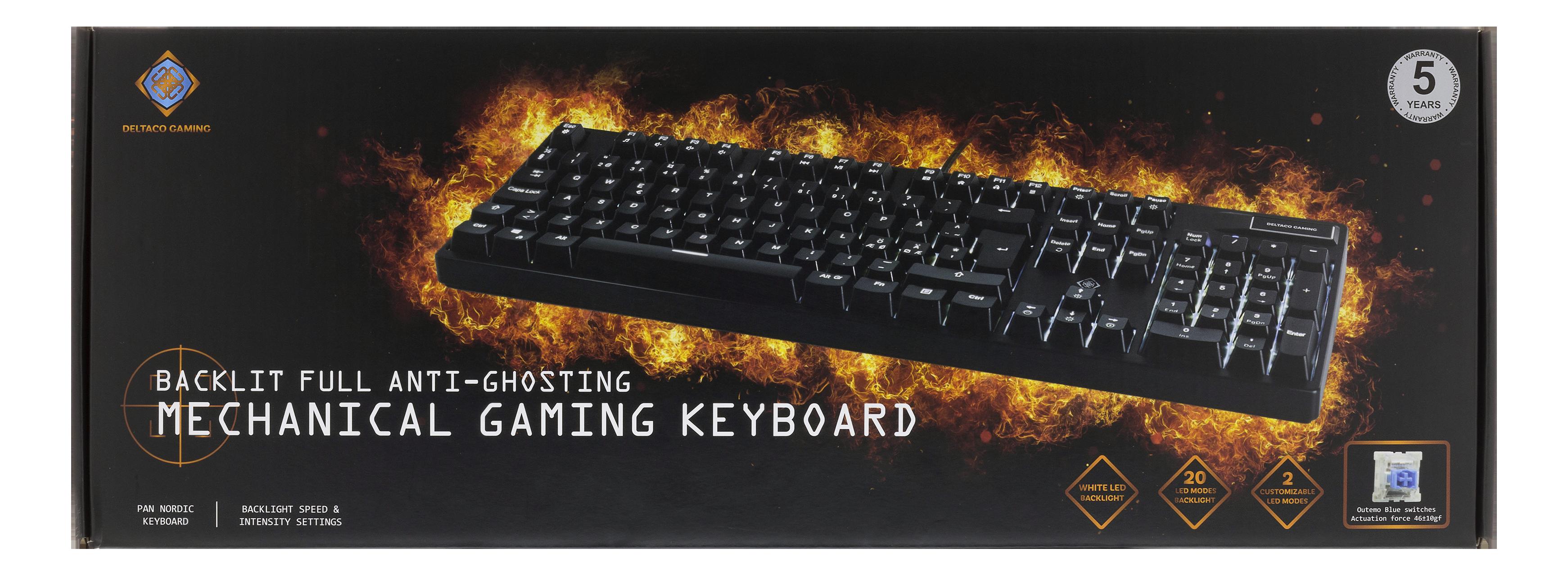 DiscAtOnce - Deltaco Gaming mekaniskt tangentbord med LED c5ba2d766def5