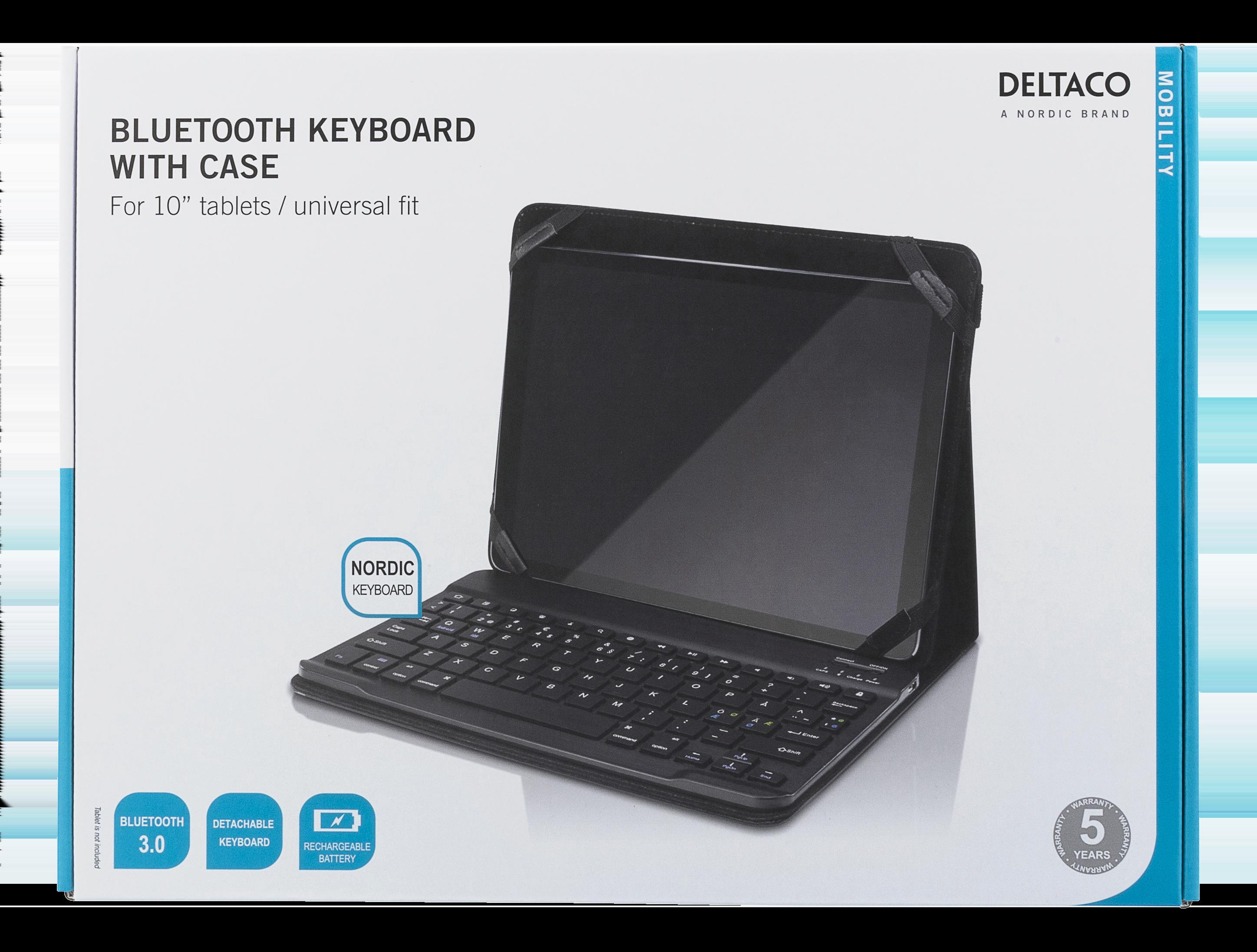 DiscAtOnce - Deltaco Fodral och Bluetooth tangentbord för 10 ... 4a53cc8f7fc30