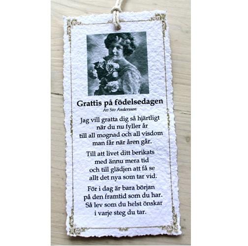 dikt grattis Josefina Smycke Design   Diktkort   Grattis på födelsedagen dikt grattis