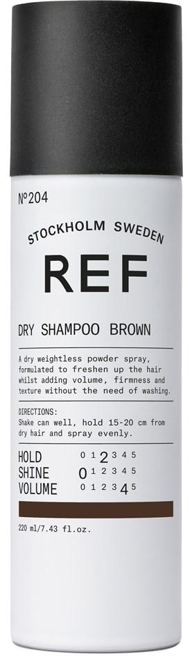 REF Dry Shampoo Brun 204 - Barbershop -hårvård på nätet! a175acba36