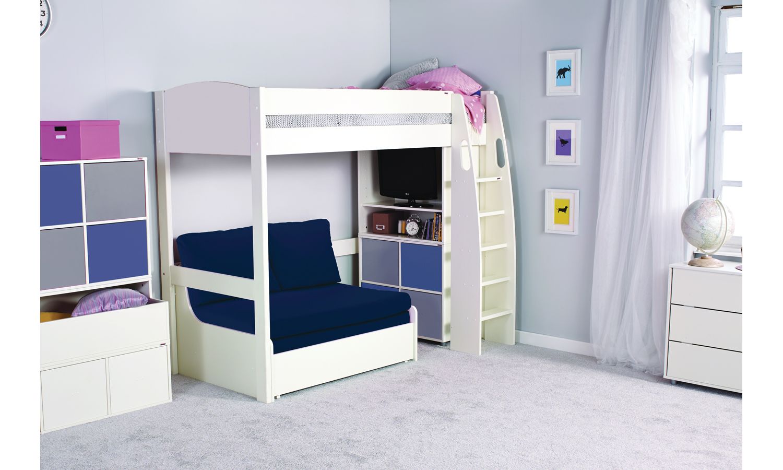 sänggavlar barn ~ stompa uno s loftsäng med bäddfåtölj  beddo