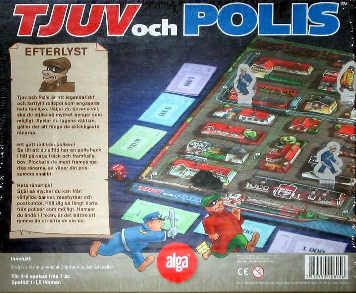 Klassiska Familjespel från Alga - Köp Tjuv och polis 2542ac752a2b4