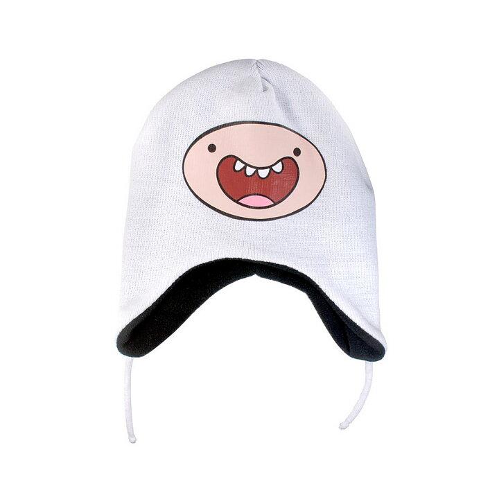 eb2dadeb7bb Adventure Time Finn Smile White Lapander Beanie - Rockzone