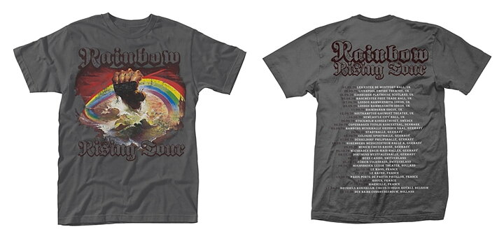 4cdb59942add Rainbow Rising Tour T-Shirt - Rockzone