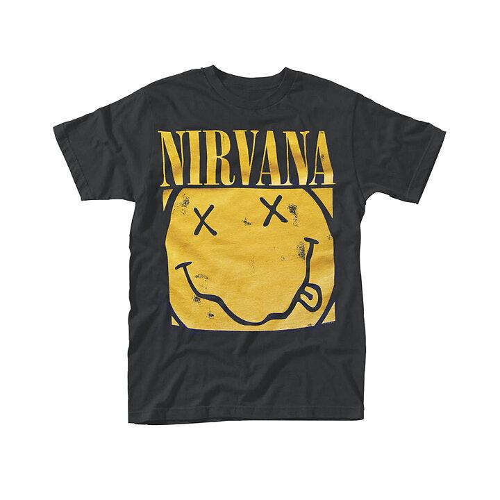 dc6f08a26ce7 Nirvana Smiley Box T-Shirt - Rockzone