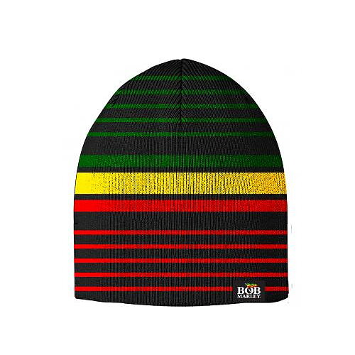 79089354fdea7 Bob Marley Irie Stripe Reversible Beanie - Rockzone