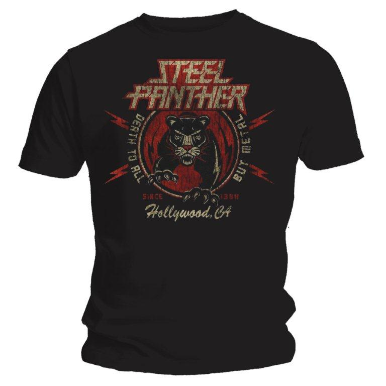 steel panther death to all but metal tshirt rockzone