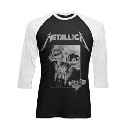 46ab0d151 Metallica Damage Baseball Long Sleeve