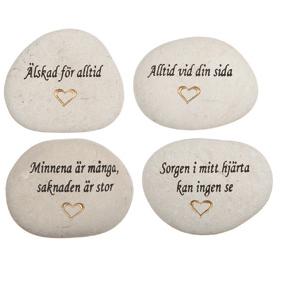 graverad sten egen text