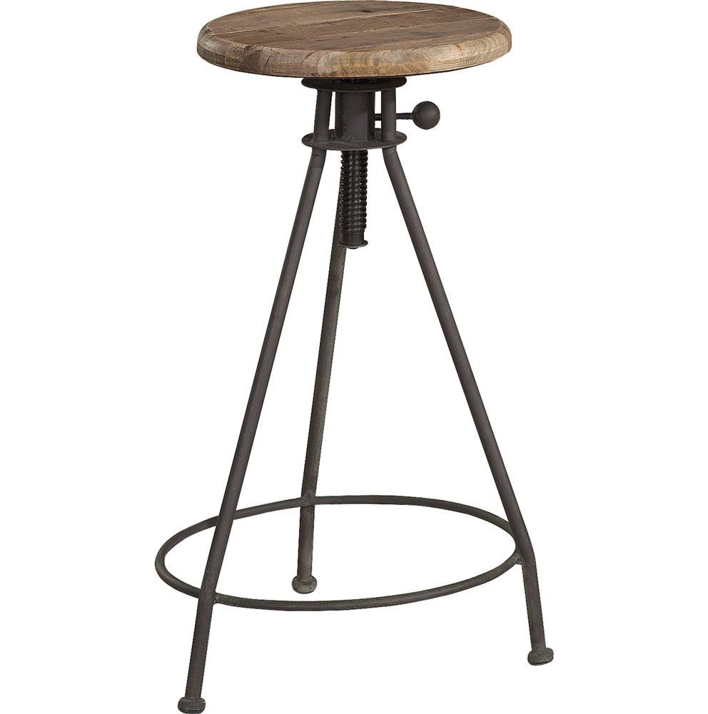 my white countryhouse  elmwood adjustable stool  artwood -
