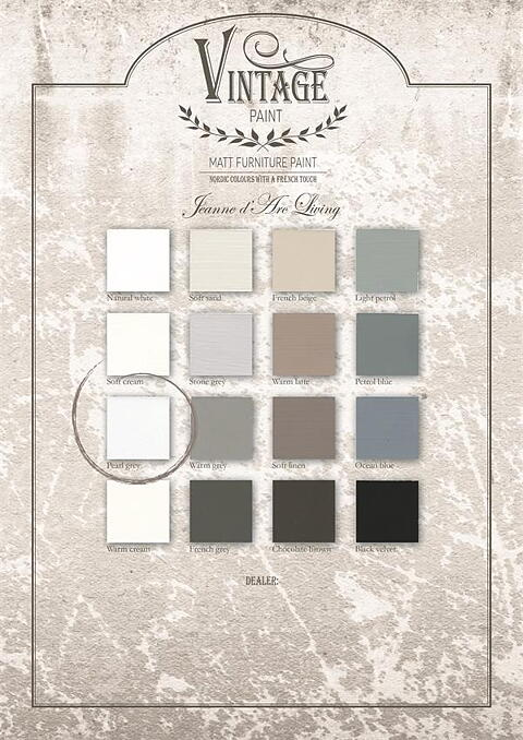 my white countryhouse - vintage paint, pearl grey, 100 ml - jeanne