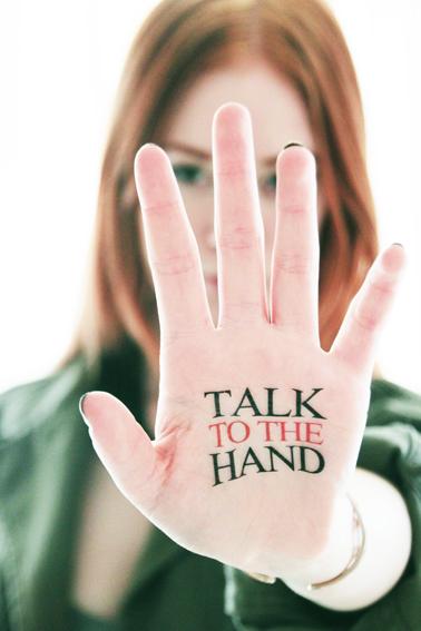 fake tattoos - scandinavian temporary tattoos - talk to the hand, Human Body