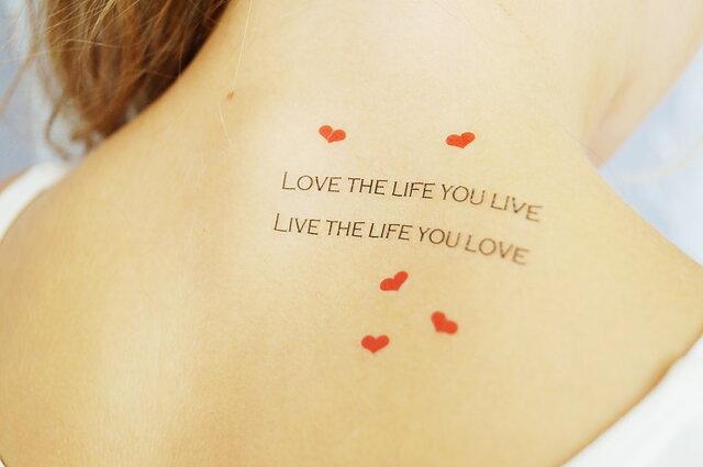 Fake Tattoos Scandinavian Temporary Tattoos Love The Life You Live